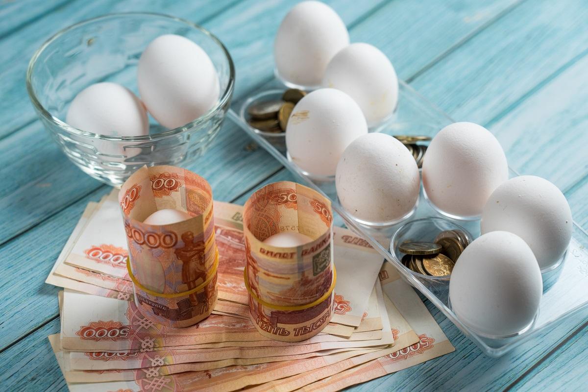 Куриные яйца в России подорожали на 3,5% за неделю