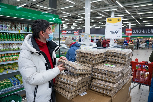 Минсельхоз заявил о стабильности цен на мясо птицы и яйца